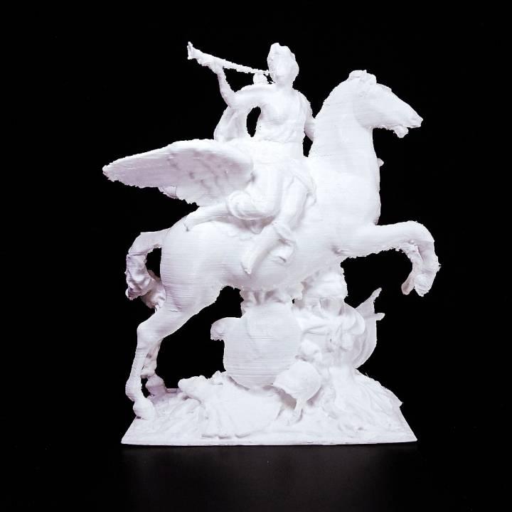 Fame Mounted on Pegasus