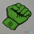 """""""Fist!"""" Sticker Decal Stamp Dual Color image"""