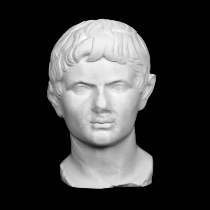 Marble portrait head of emperor Augustus