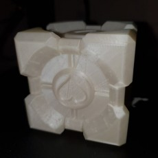 Picture of print of Companion Cube (Portal)
