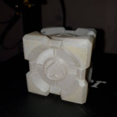 Picture of print of Companion Cube (Portal) This print has been uploaded by Bill Derwent