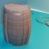 Tonneau - Puzzle - Barrel BORDEAUX - Option Tirelire - Piggy Bank image