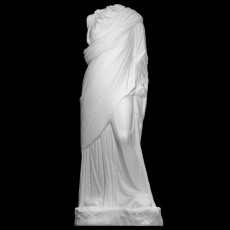 Marble statue of a female draped in a chiton (long tunic)