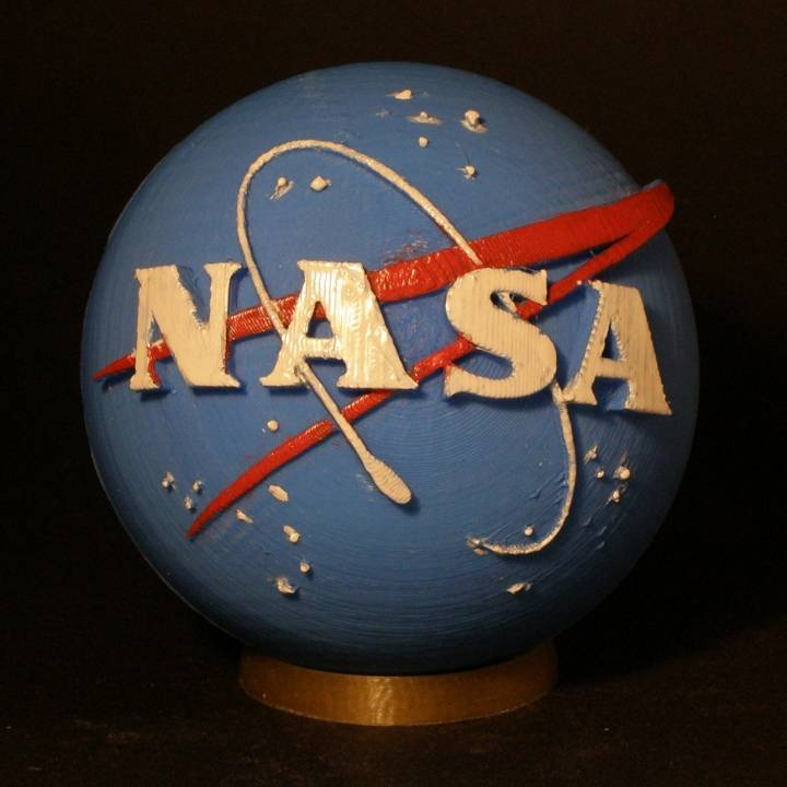 picture regarding Printable Nasa Logo identified as 3D Printable NASA Insignia through NASA