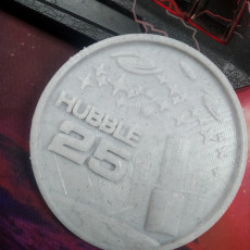 Picture of print of Hubble Space Telescope 25th Anniversary Medallion