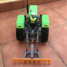 Picture of print of OpenRC Tractor rice rake