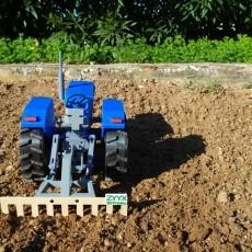 OpenRC Tractor rice rake