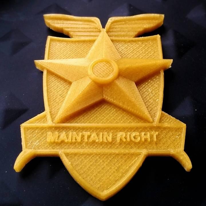 MFP Badge - Maintain Right (Mad Max)