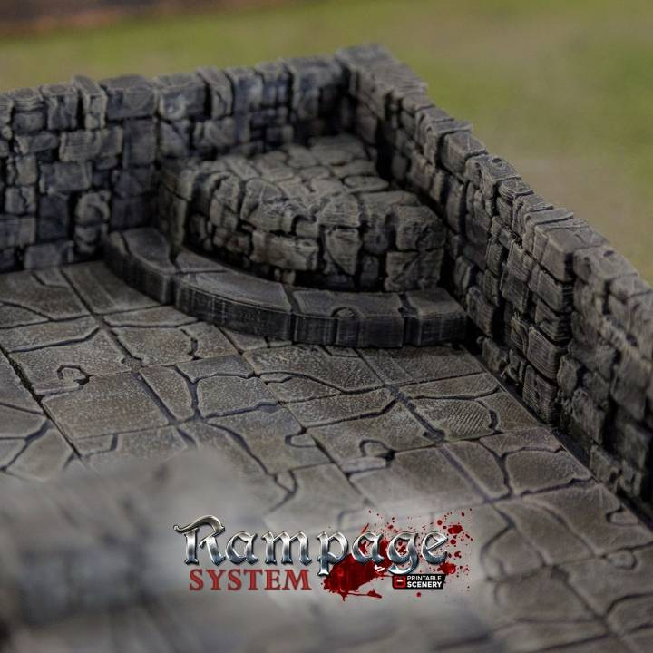 picture about 3d Printable Dungeon Tiles called 3D Printable Rampage Dungeon Tiles - Easy Preset as a result of Printable