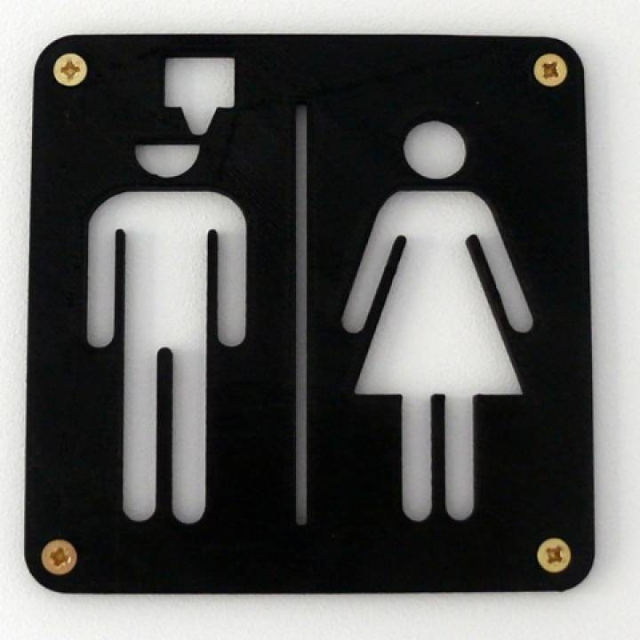 3d Printable Maker 39 S Toilet Sign By Easy3dstore