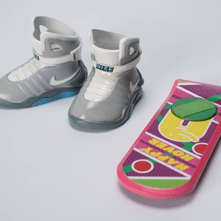 Back to the future Nike Sneakers Air MAG & HOVER BOARD made by ATOM 3D printer