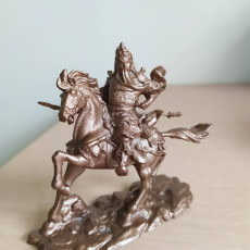 Picture of print of Guan Yu Equestrian Statue