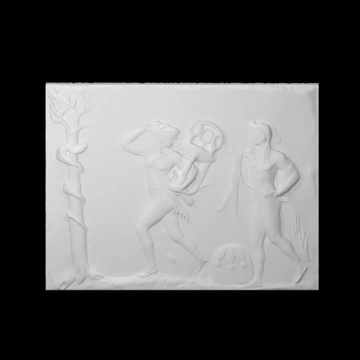 Apollo and Heracles struggle for the delphic Tripod