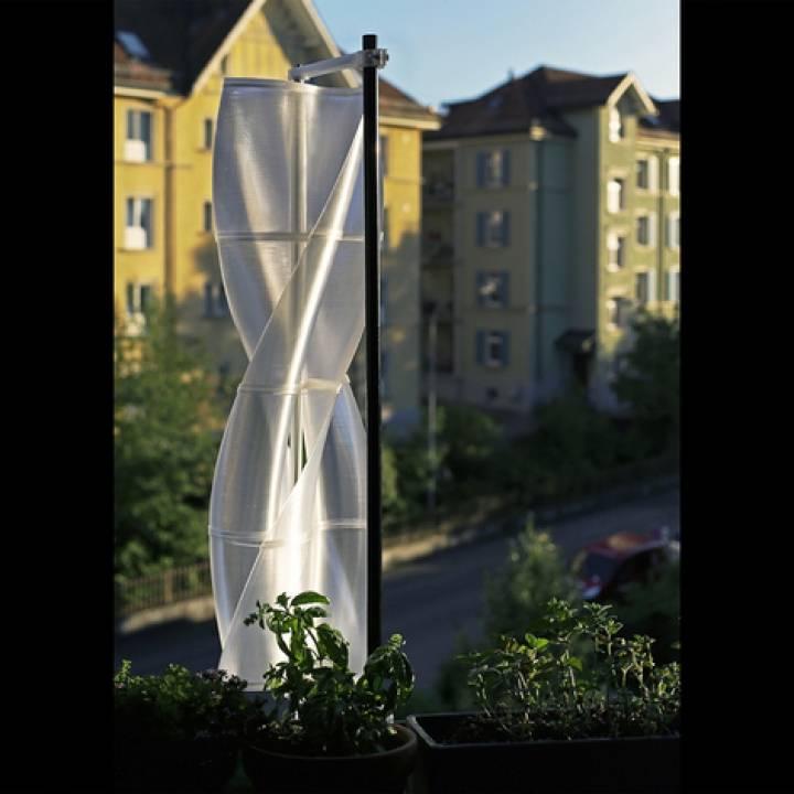 3D Printable Vertical Wind Turbine VAWT by Tobias Gabathuler