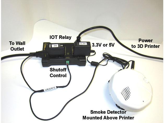 3D Printer Safety Shutdown - Smoke Detector