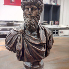 Picture of print of Roman bust of Lucius Verus