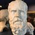 Roman marble head of Socrates image