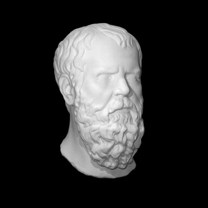 Roman marble head of Socrates