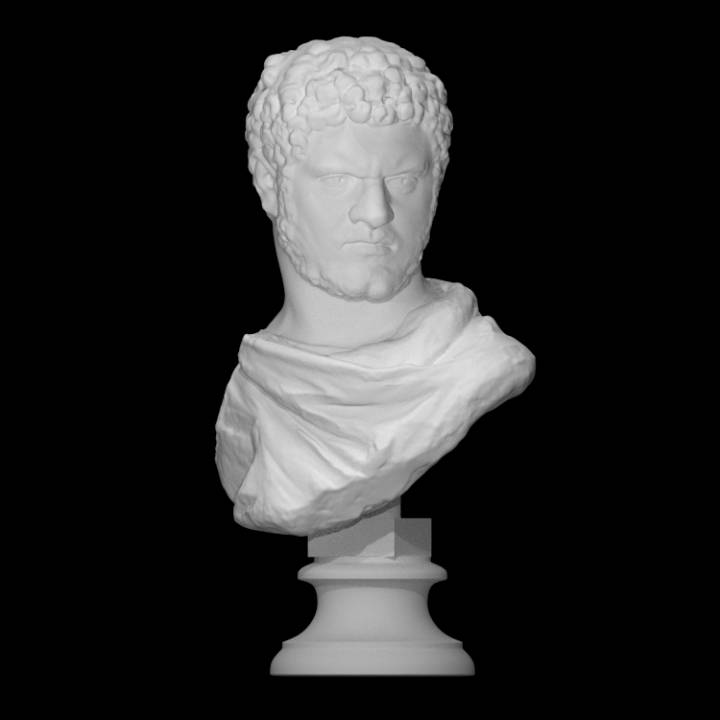 "A Roman marble bust of the Emperor Caracalla, of the ""sole-rule"" type"