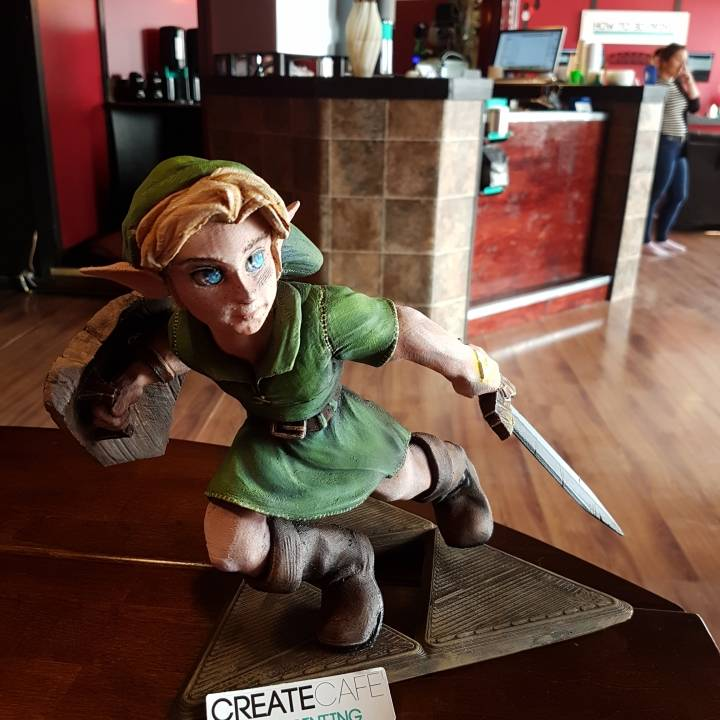 3d Printable Young Link Ocarina Of Time By Create Cafe