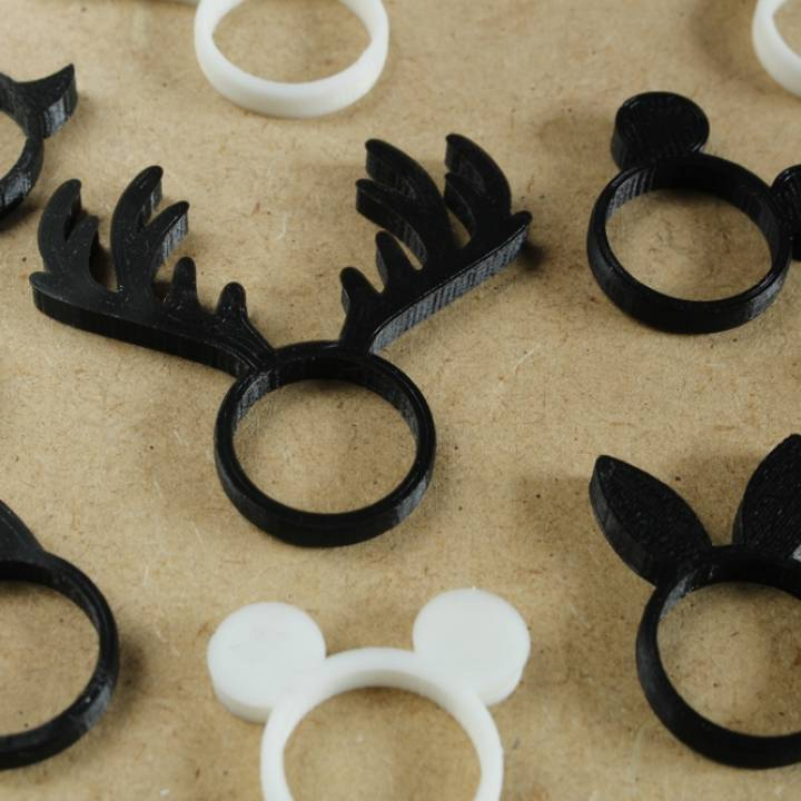 Animal Ring Collection - Single extrusion version