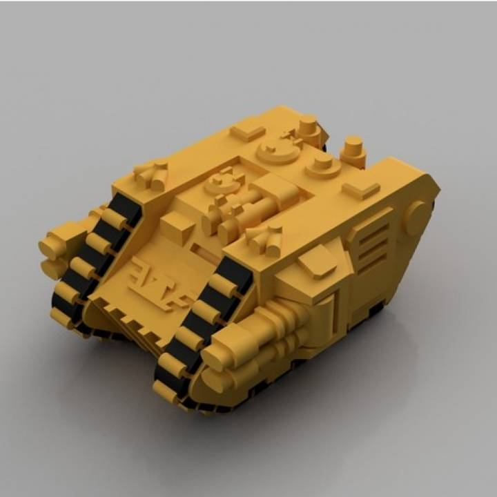 3D Printable Land Raider for Epic 40K (6mm scale) by fractalnoise