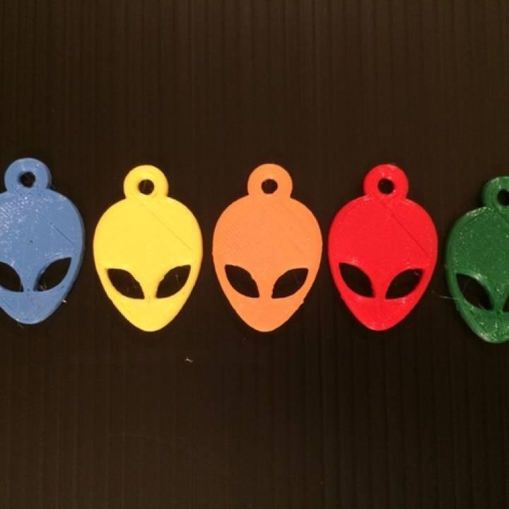 Alien Head Keychain