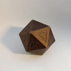 Greek D20 dice