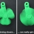 'Lucky' Clover Spinning Key Fobs image