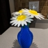 Daisy - Flat flower print image
