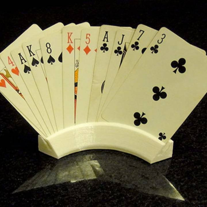Playing Card Holder - Holds Your Cards For You While You Play!