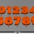 Candle Holder Numbers - Numbers 0 - 9 For Birthday Cake Decoration image