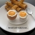 Boiled Egg Server - Neatly Holds Both Parts Of A Cut Boiled Egg While It's Being Eaten. image
