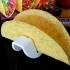Taco Holder - Rolls over for easy filling / Flat base holds Taco upright when served image