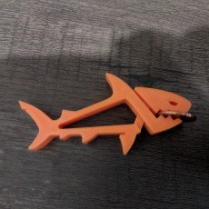 Picture of print of SHARKZ... Fun Multipurpose Clips / Holders / Pegs With Moving Jaws That Bite!