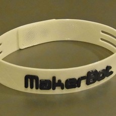 Ultra-Slim Wristband - Clever Link System. MakerBot Logo Or Plain Versions.