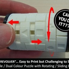 The  Revolver  - One Colour Print version of this Challenging Revolving Puzzle