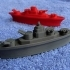 BATTLESHIPS - With Rotating Gun Turrets (No Support Required) image