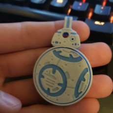 Picture of print of Rotating BB8 Droid And BB8 Key Fob