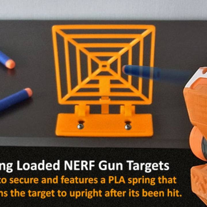 picture regarding Nerf Targets Printable identified as 3D Printable Spring Rich Aim For NERF Gun Enjoyment! as a result of Muzz64