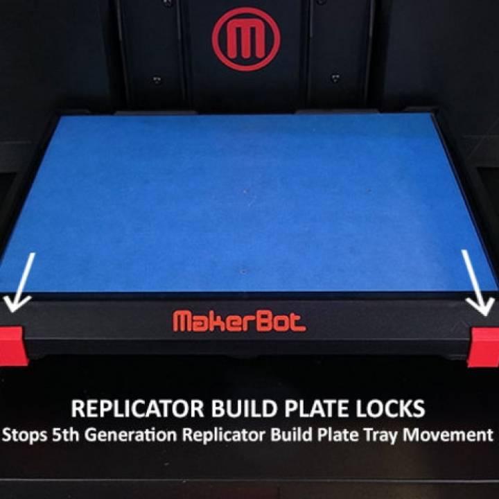 5th Generation Replicator Build Plate Locks