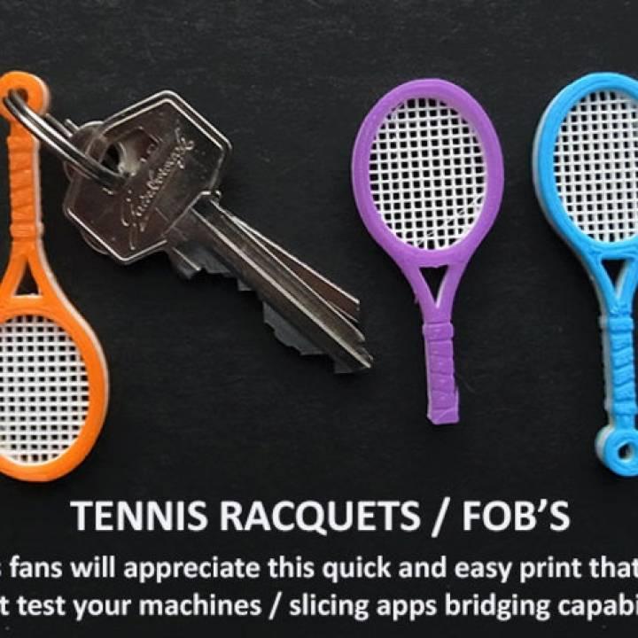 Tennis Racquet Key FOB