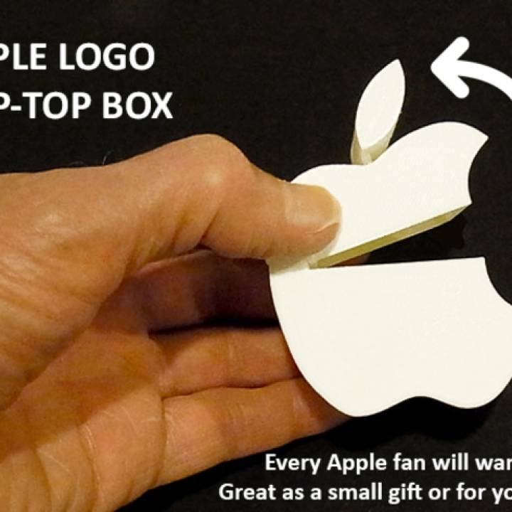 3D Printable Apple Logo Flip-top Box by Muzz64