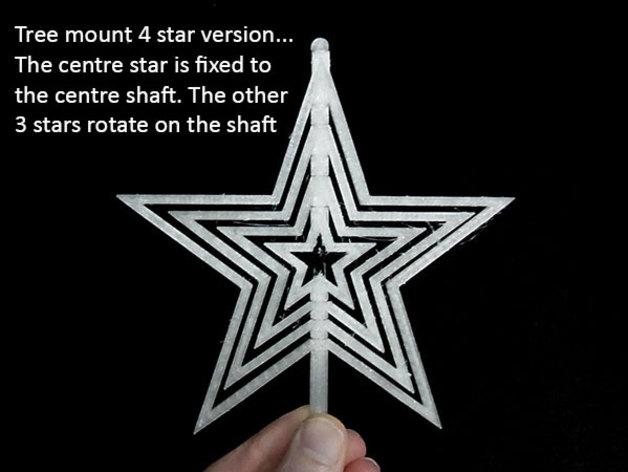 Spinning Christmas Star