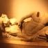 Funerary Group: deceased and winged female genius image