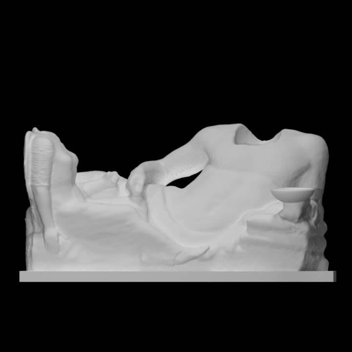 Funerary Group: deceased and winged female genius