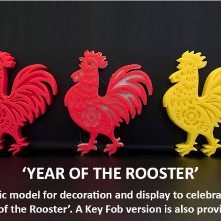 Rooster - Celebrating Chinese New Year 2017