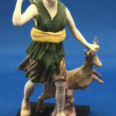 Picture of print of Diana and a Doe