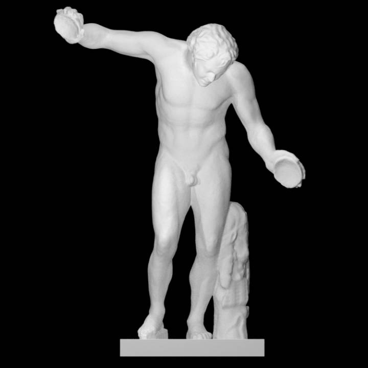 """Dancing satyr from a so-called group """"Invitation to the dance"""""""