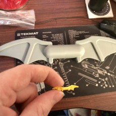 Picture of print of Full sized Lego batarang 这个打印已上传 Dan Murphy